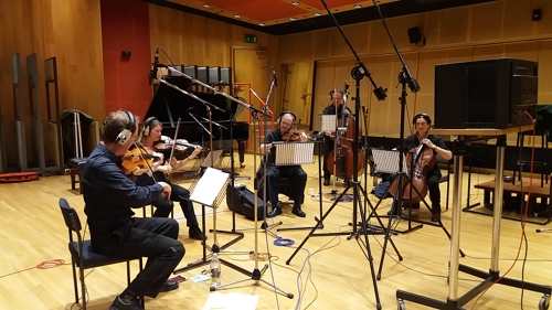 String Section recording a Christmas advert