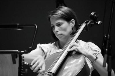 Julia Graham playing the cello