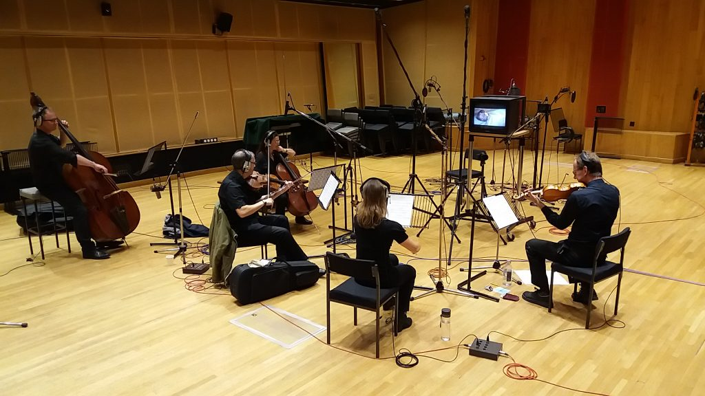 String Section recording at Angel Studios, London