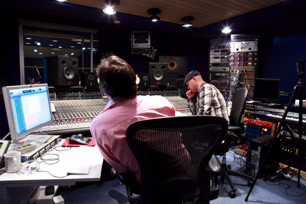 String Section recording at the Sarm West Studios
