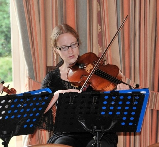 Nancy Johnson comes from Derbyshire and is a professional violinist